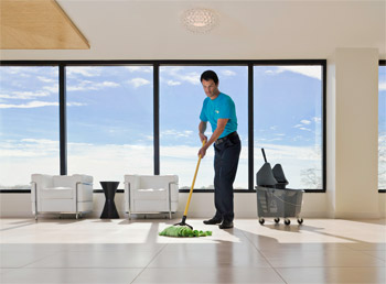 ServiceMaster staff green cleaning Baltimore Maryland tile floor